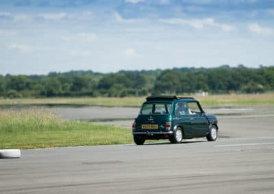 On the Top Gear track at Dunsfold