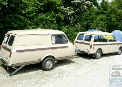 Clubman estate with matching caravan