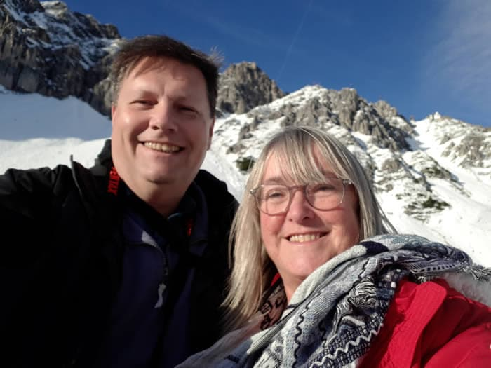 Not quite at the top, above the snowline overlooking Innsbruck