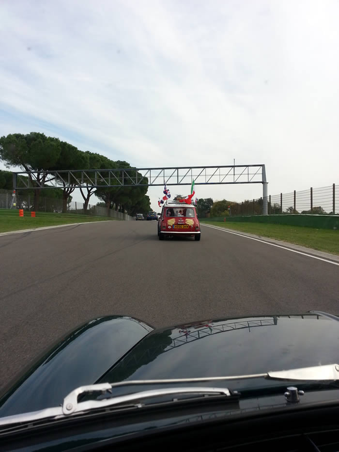 On the track at Imola