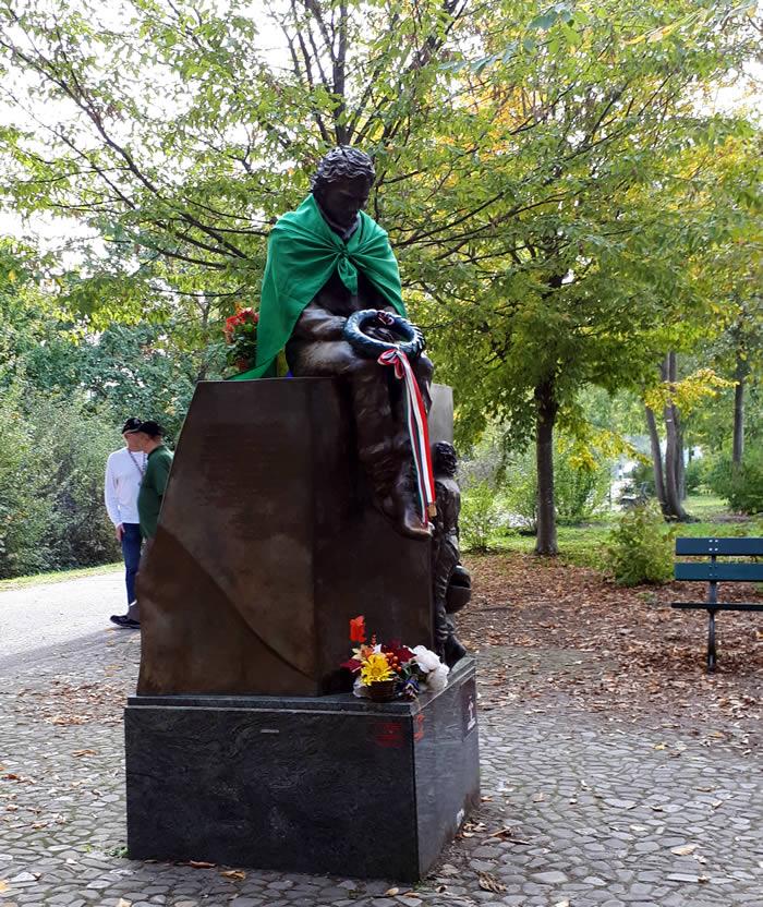 Memorial to Ayton Senna, who died 1 May 1994 at Imola